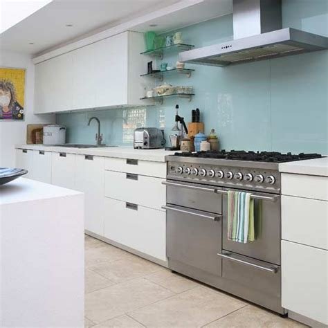 contemporary glass splashback kitchen kitchens kitchen