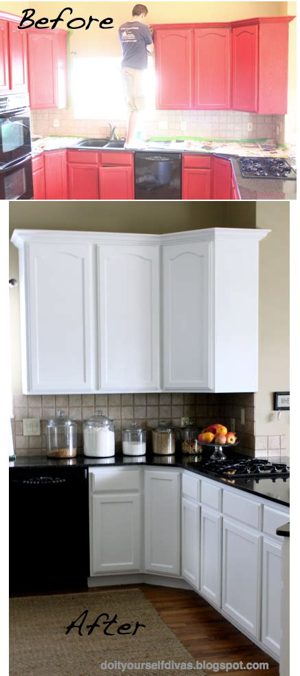 do it yourself kitchen cabinets painting do it yourself divas diy how to paint over red painted