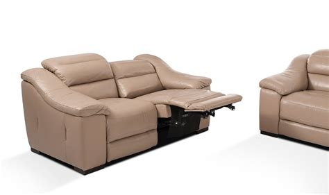 modern reclining leather sofa camellia modern power reclining leather sofa set