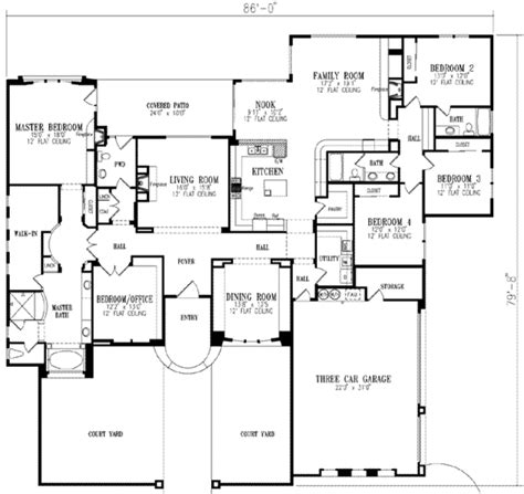 european style house plan 5 beds 3 5 baths 3619 sq ft