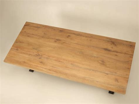 White And Oak Kitchen Table Industrial Inspired Kitchen Table From White Oak And Steel For Sale At 1stdibs