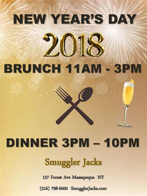 new years day brunch dinner flyer smugglers smuggler jacks