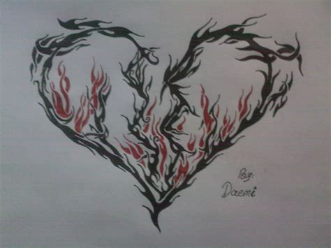tribal broken heart tattoos hell slayer and demonic curse magic