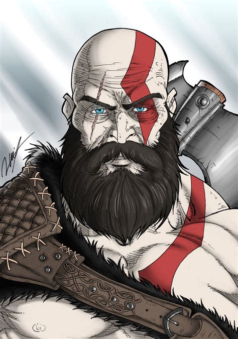 kratos by ronniesolano on deviantart