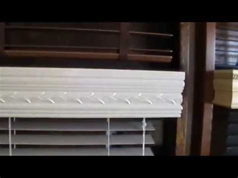 persianas de madera cornisas de madera para persianas o cortinas youtube