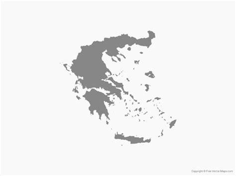 greece map vector vector map of greece single color free vector maps