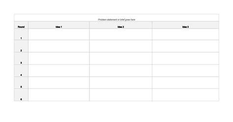 dd 3 5 template list 6 3 5 method brainwriting template sheets