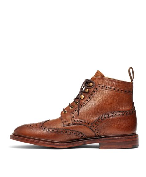 Kickers Kalong Brown Leather 203 brothers pebble wingtip boots in brown for lyst