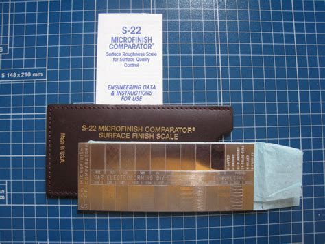 surface roughness comparator plates testers engineering books  supplies store