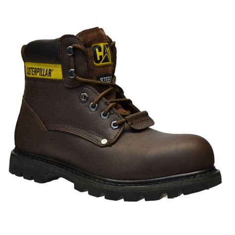 mens work boots brands caterpillar caterpillar sheffield steel toe cap safty