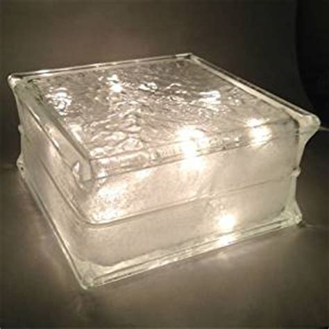 glass block christmas light lighted glass block with clear lights glass blocks for crafts