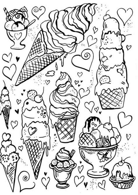 ice cream coloring pages games pin by danielle pribbenow on coloring is the best therapy