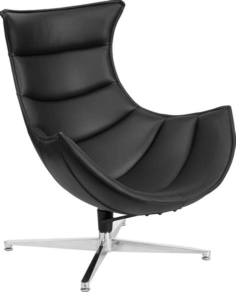 Cocoon Chair by Black Leather Swivel Cocoon Chair Zb 31 Gg Renegade