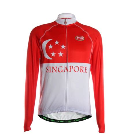jacket design singapore new tvsss men s long sleeve breathable cycling jersey
