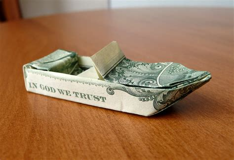 Dollar Origami Boat - dollar origami ski boat v3 by craigfoldsfives on deviantart