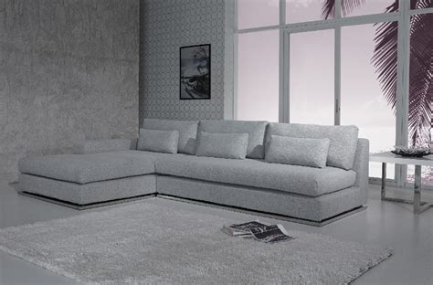 Ashfield Modern Light Grey Fabric Sectional Sofa Light Gray Sectional Sofa
