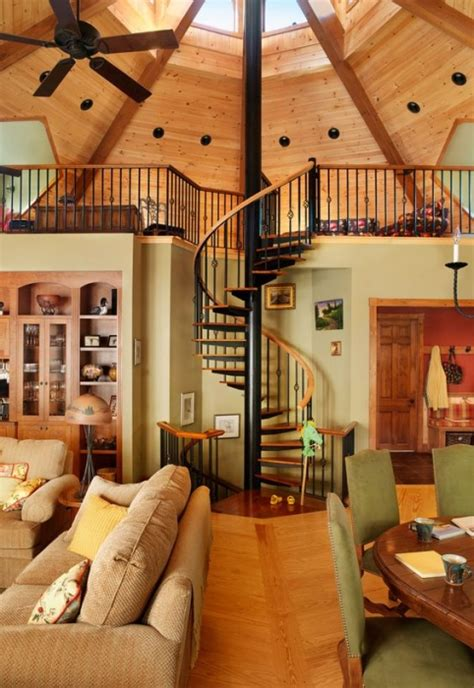 octagon homes interiors 21 yurt designs for every home style salter spiral stair