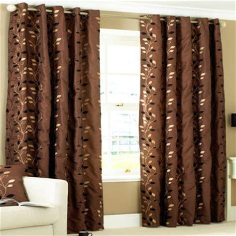Chocolate Curtains Eyelet Paoletti Veneto Eyelet Curtains Chocolate 90 X 90 Inch Ebay