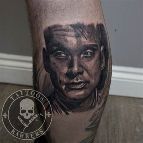 black and grey portrait tattoo dvd tattoo studio a cut of art tattoo shop and barbershop