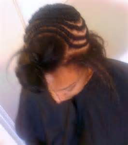 braiding hair for sew in the gallery for gt partial sew in braid pattern