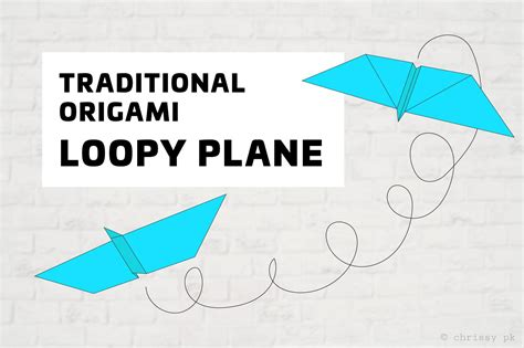 Origami Flying Plane - loopy origami paper plane tutorial