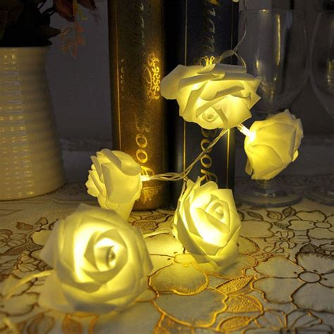 wedding lighting decor home decor led fairy light curtain 10 lights rose flower string led fairy lights wedding