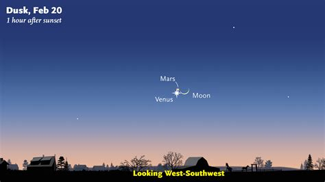 Mars Venus astronomy mars and venus conjunction tonight boing boing