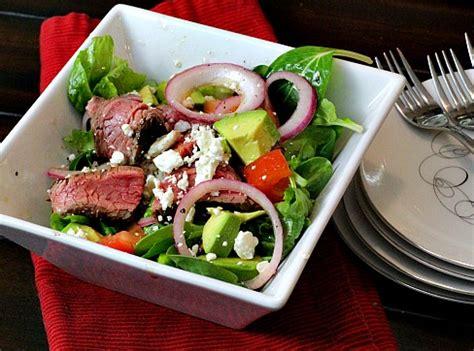 Glaze Avocado Keyz And chipotle glazed steak salad cooking on the ranch