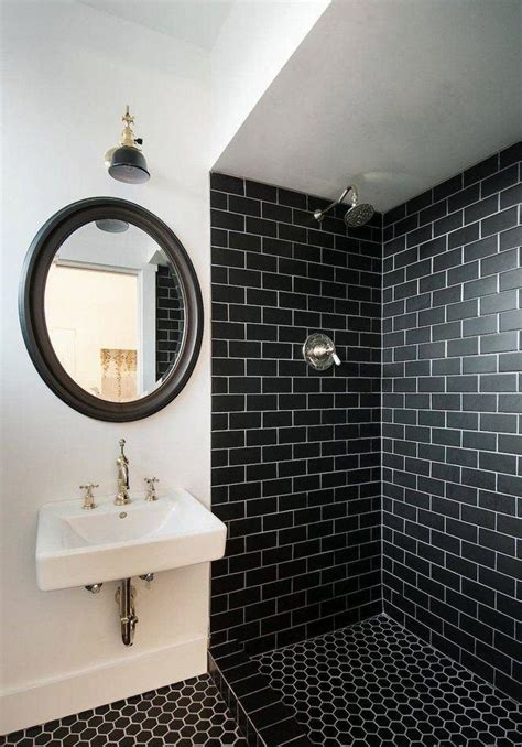 black and white bathroom floor tile ideas 60 banheiros preto e branco decorados fotos lindas