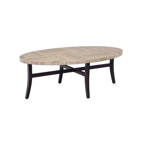 Coffee Table Home Depot Martha Stewart Living Charlottetown All Weather Wicker Patio Coffee Table 65 909556 5