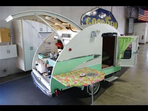 Monitor Style Barn vintage teardrop camper with 1956 parklane trim 1993