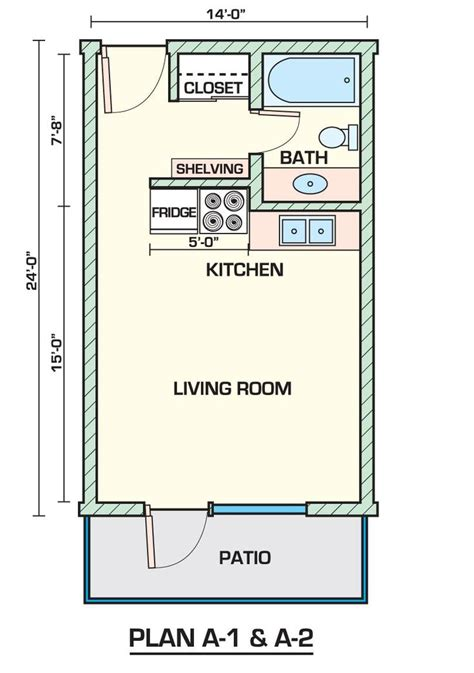 bunkie apartment layout floor plans small apartment