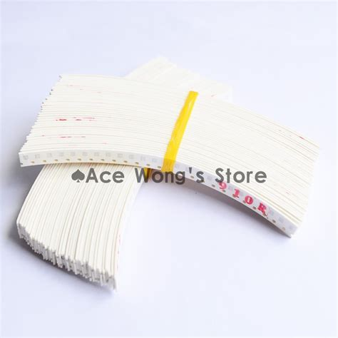 smd resistor kit ebay 80 value 0805 smd resistor kit 1 10r 910k 80valuesx25pcs 2000pcs ebay