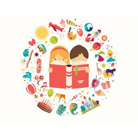 libro illustrating childrens books fondo de ni 241 os leyendo un libro descargar vectores gratis