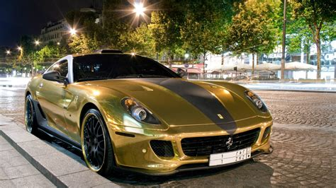 golden ferrari gold ferrari 599 gtb hamann wallpapers and images