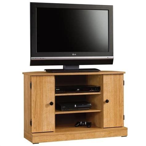 Sauder Corner Bookcase Beginnings Corner Tv Stand In Highland Oak 412996