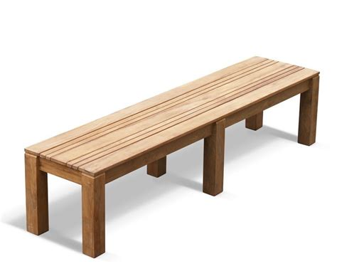 www bench com chichester teak backless bench 2m school gym bench