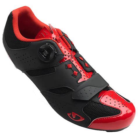 road bike shoe cleats giro savix road cycling shoes bright black