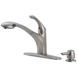 shop delta debonair stainless 1 handle pull out kitchen faucet at lowes com