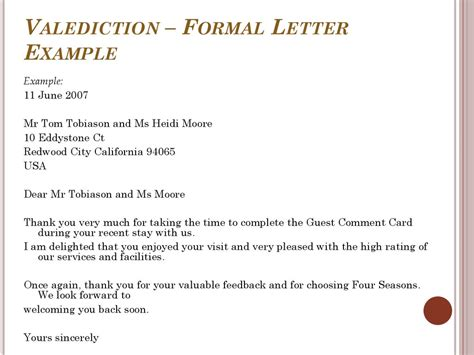 business letter valediction business writing essentials presentation