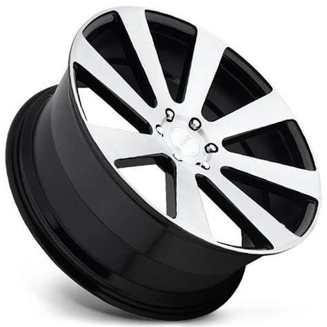 dub wheels  ball  gloss black  brushed face