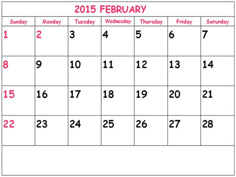 free february 2015 calendar template search results for free printable calendars 2015 february