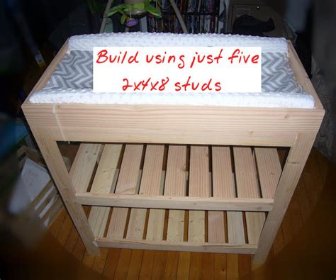 Baby Changing Table From Five 2x4x8 Studs 10 Mobile Baby Changing Table