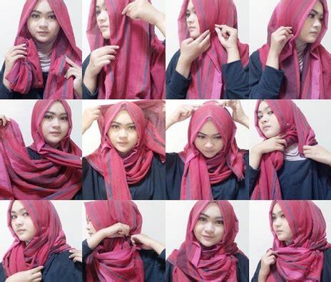 tutorial hijab segitiga 2 warna tutorial hijab segitiga modern untuk wanita aktif