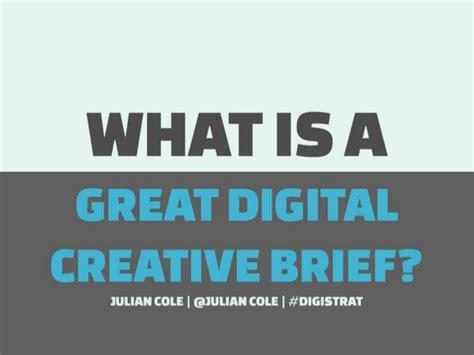 Digital Briefformat What Is A Great Digital Creative Brief