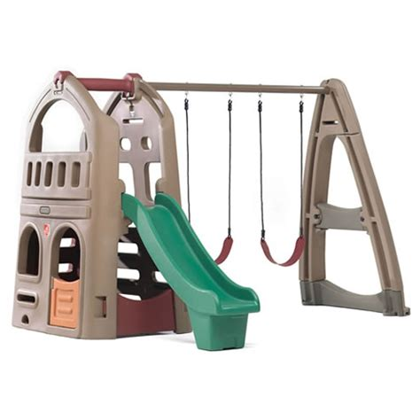step2 naturally playful playhouse climber and swing extension kids toys play kitchens playhouses wagons children s