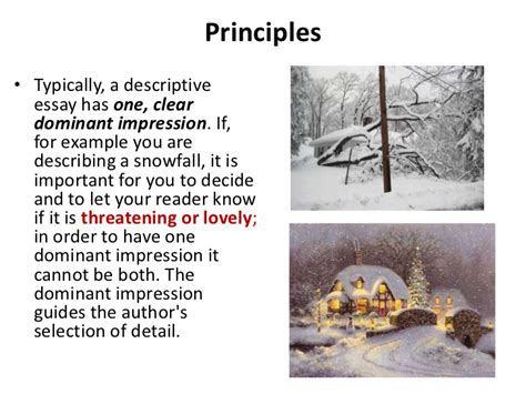 Dominant Impression Essay by Descriptive Essay Ppt 2012