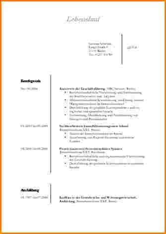 Bewerbung Lebenslauf Vorlage Lebenslauf Berufskolleg Vorlage Reimbursement Format