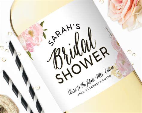 Custom Wine Labels For Bridal Shower