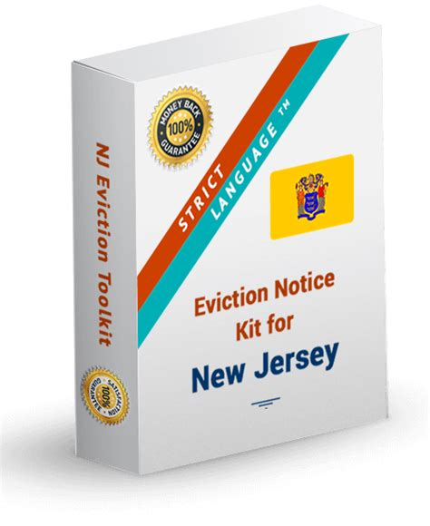 Tenant Eviction Notice New Jersey New Jersey Strict Language Eviction Notice Kit